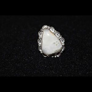 Solar Quartz Statement Ring 8 1/2